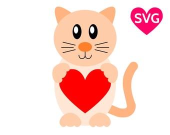 Download Cat svg file | Etsy