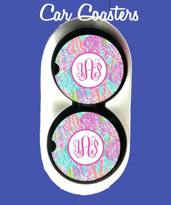 Personalized Car Coastercar Coaster Monogrammed Monogram