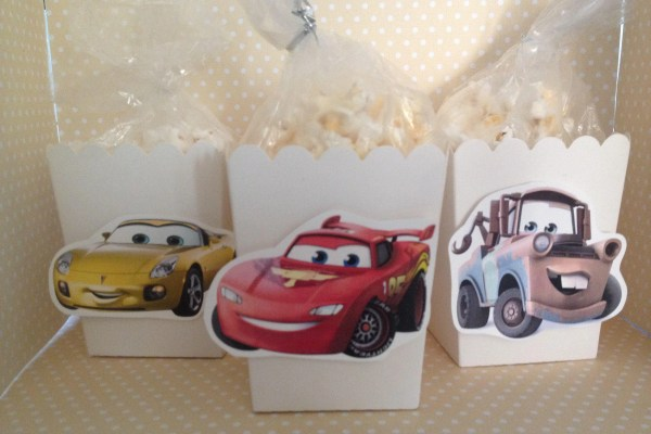 Disney Cars 3 Party Popcorn Favor Boxes Set Of 10