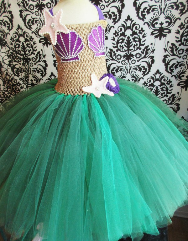 Little Mermaid Costume Dress Halloween