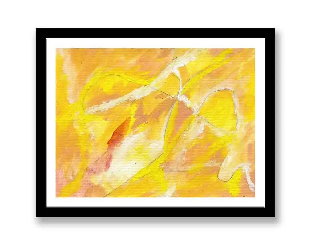 Yellow and white abstract...