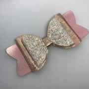 glitter hair bow big handmade