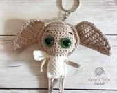 Dobby Keychain Crochet Pa...