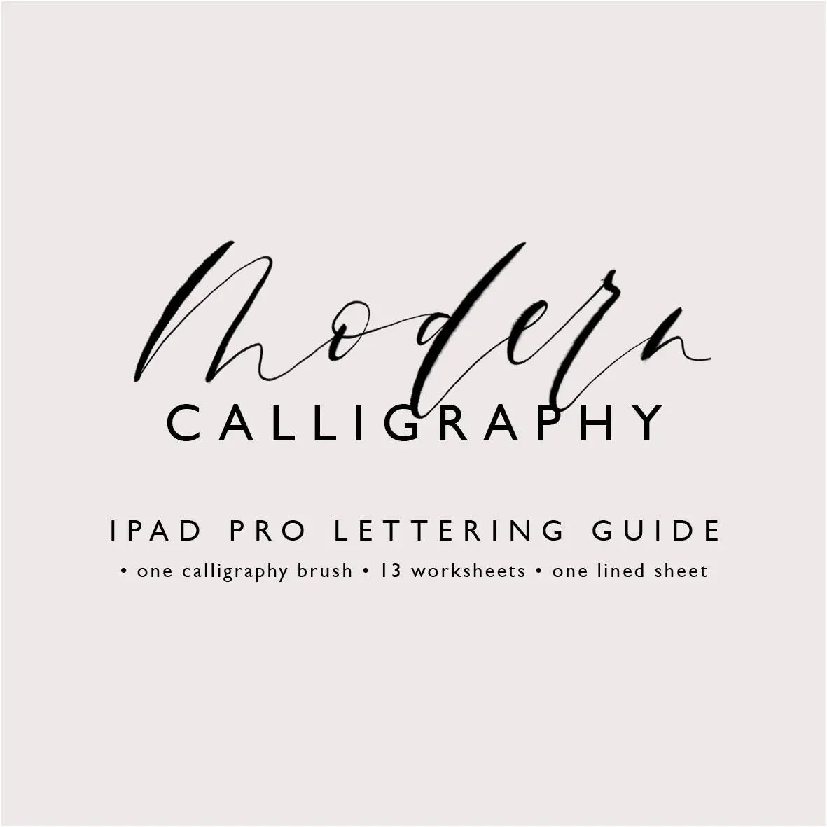 Modern Calligraphy Ipad Pro Lettering Guide From Clarariemer On Etsy Studio