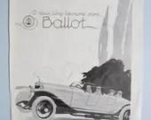 Art Deco print, car adver...