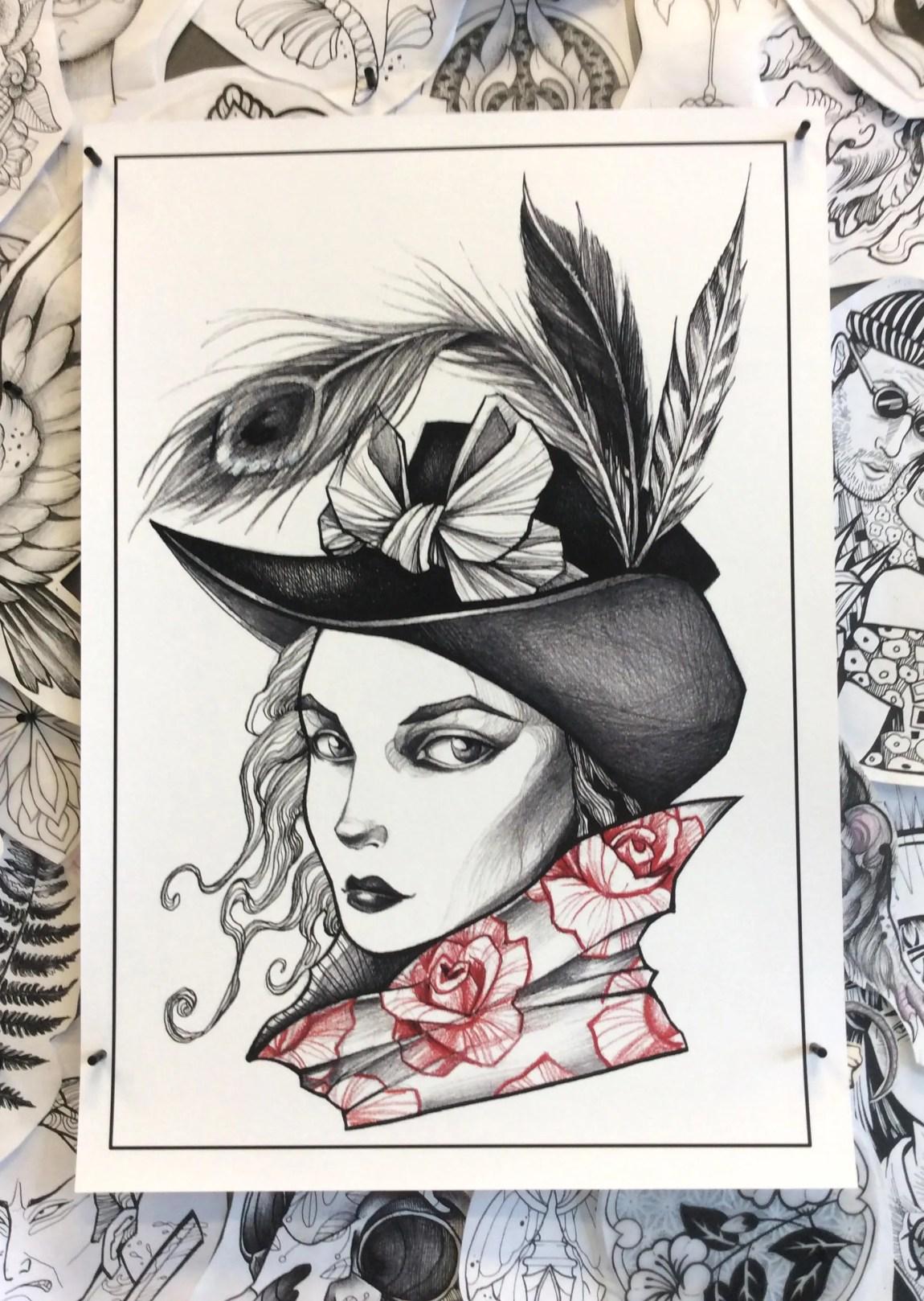 A3 Illustrative Tattoo Fl...