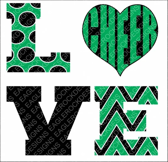 Download Love Cheer SVG DXF EPS Png Cut File Cheer Mom