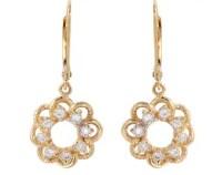 Gold diamond earring | Etsy