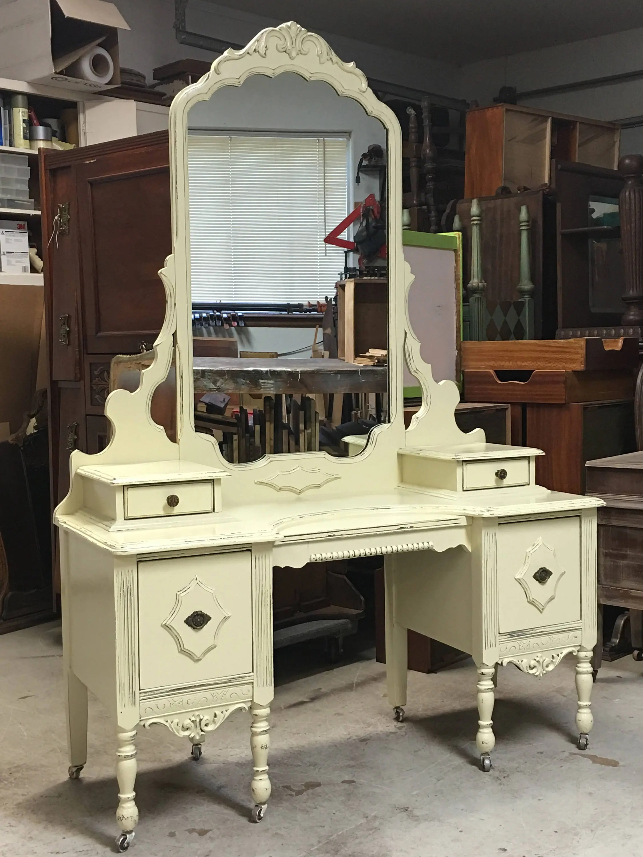 purple makeup vanity chair desk mid century modern custom order an antique dresser shabby chic