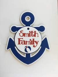 Personalized anchor Cruise Door Decoration