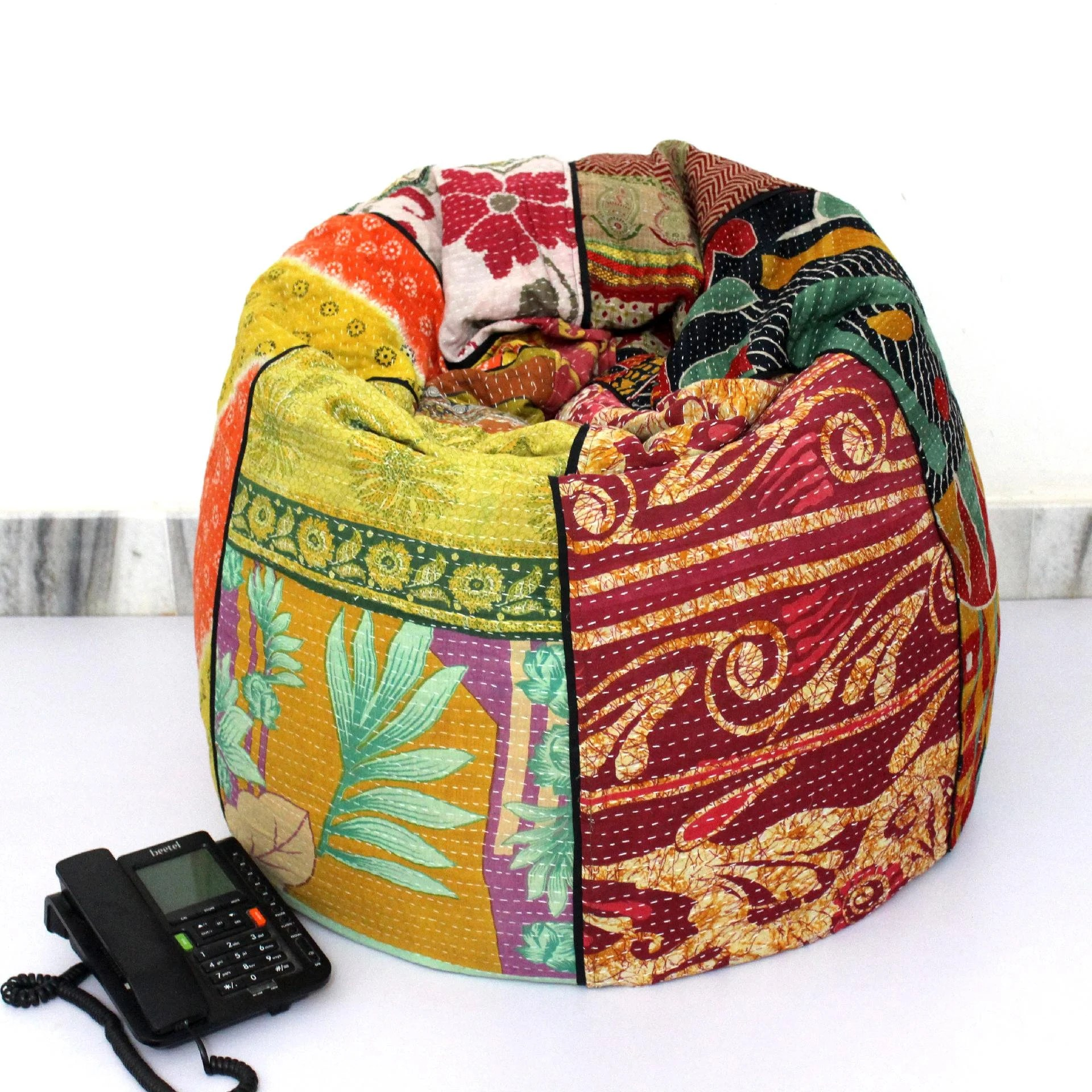 Where Can I Buy A Bean Bag Chair Handmade Quilted Cotton Floral Bohemian Bean Bag Chair Home