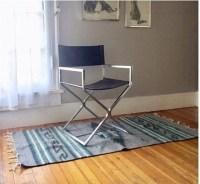 Mid Century Modern Chrome Directors Chair. Chrome & Black