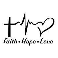 Faith hope love decals