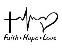 Faith hope love decals | Etsy