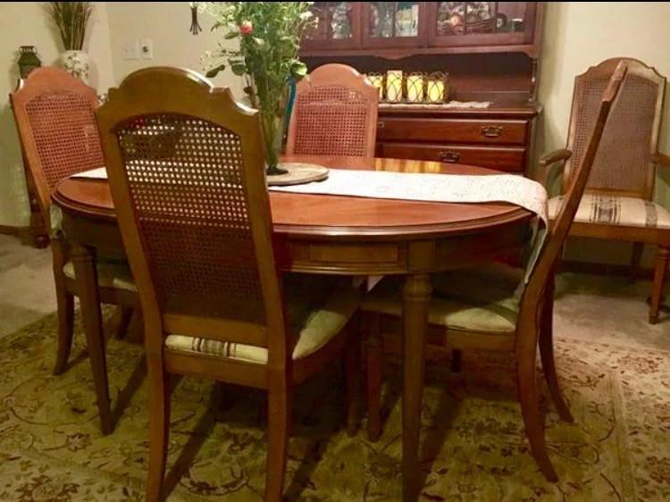 ESPERANTO Drexel Dining Room Set 1960s 6 chairs 3