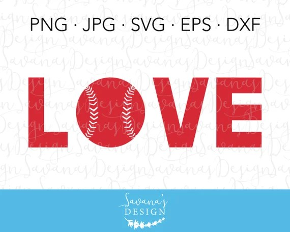Download Love Softball SVG Love Baseball SVG Baseball Love SVG