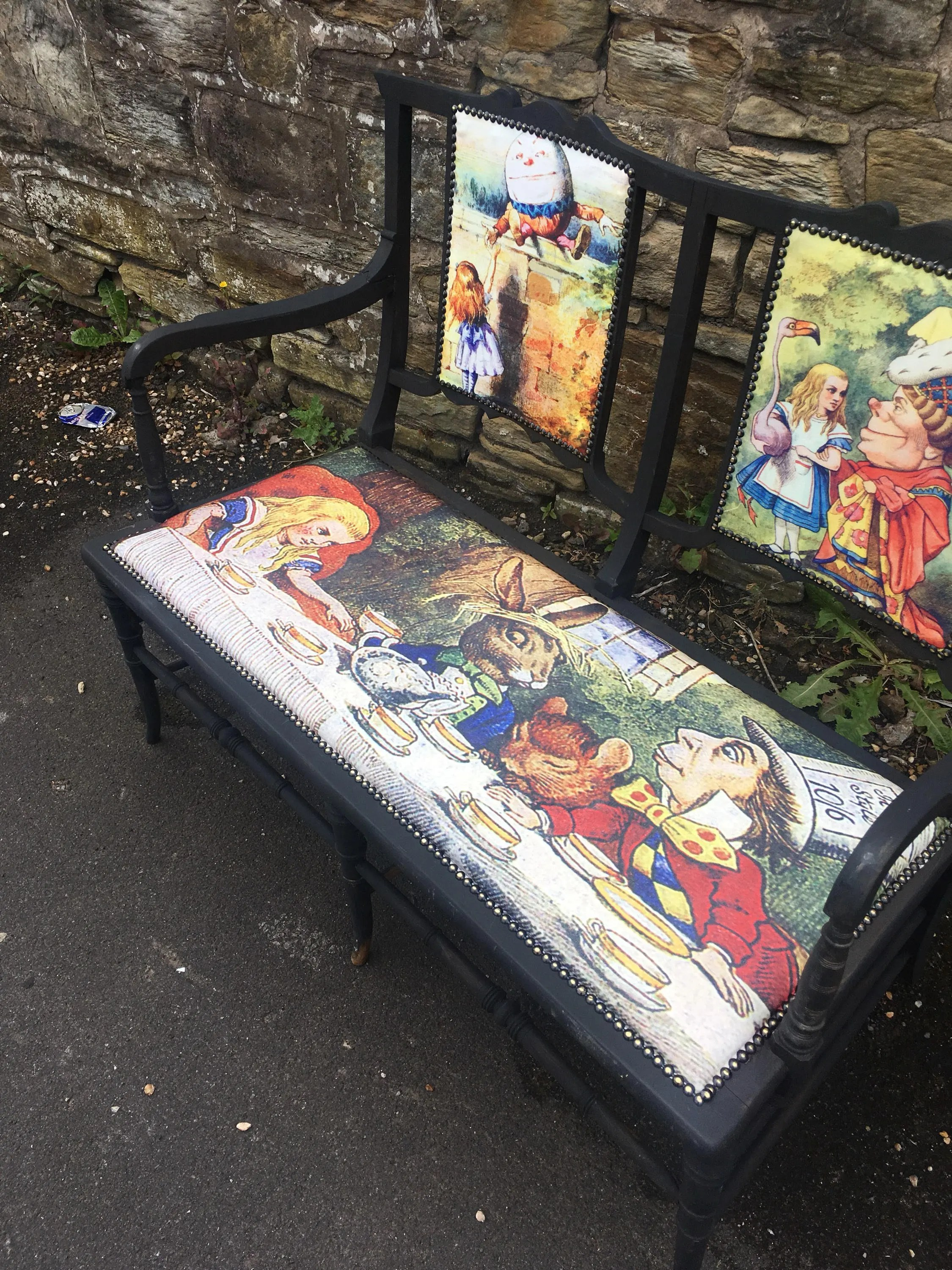 alice in wonderland chair power lifts furniture mad hatter antique