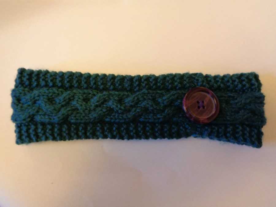 Cable Knitted Headband Pa...