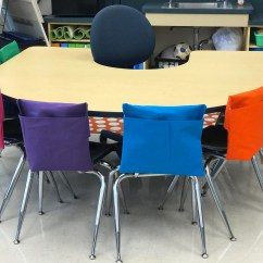 Classroom Chair Covers With Pocket Table And Chairs Garden Set 25 Pockets Seat Sacks Desk Organizer Bag