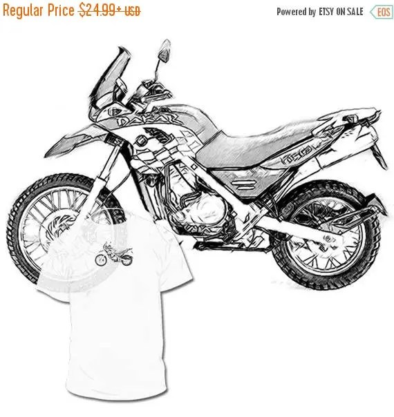 40% OFF Sale BMW 650 GS Dakar Drawing T shirt ___ Your Bike