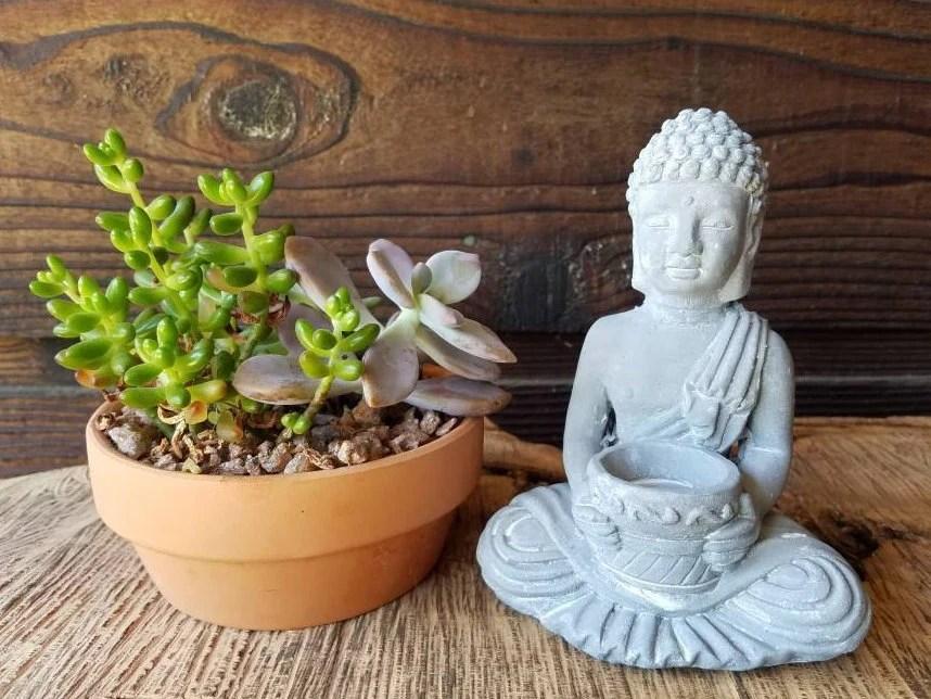 Small Gray Buddha Statue ...