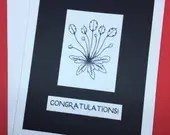 Congratulations card, bla...
