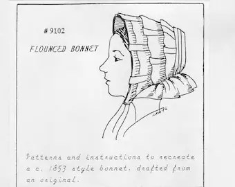 Bonnet Sewing Pattern PDF e-Pattern for an Adjustable Knot