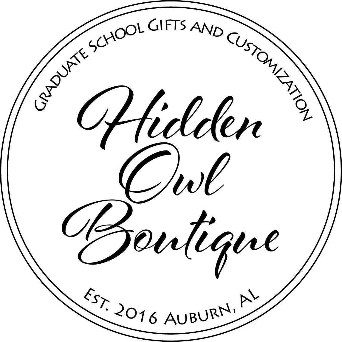 Graduate School Gifts and Customization by HiddenOwlBoutique