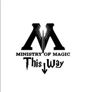 This Way To Ministry Of Magic Cross Stitch Pattern