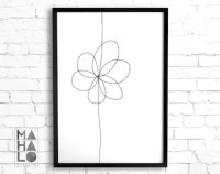 Floral line art | Etsy