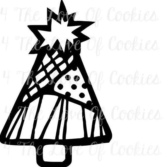 PYO Christmas silk screen stencil, Christmas tree Silk
