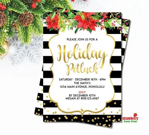 Items similar to Christmas Potluck Invitation Holiday