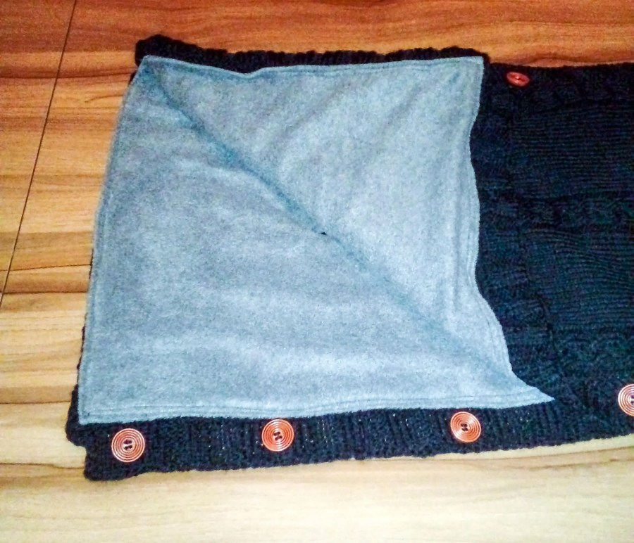 Knitted Cable Fleece Line...