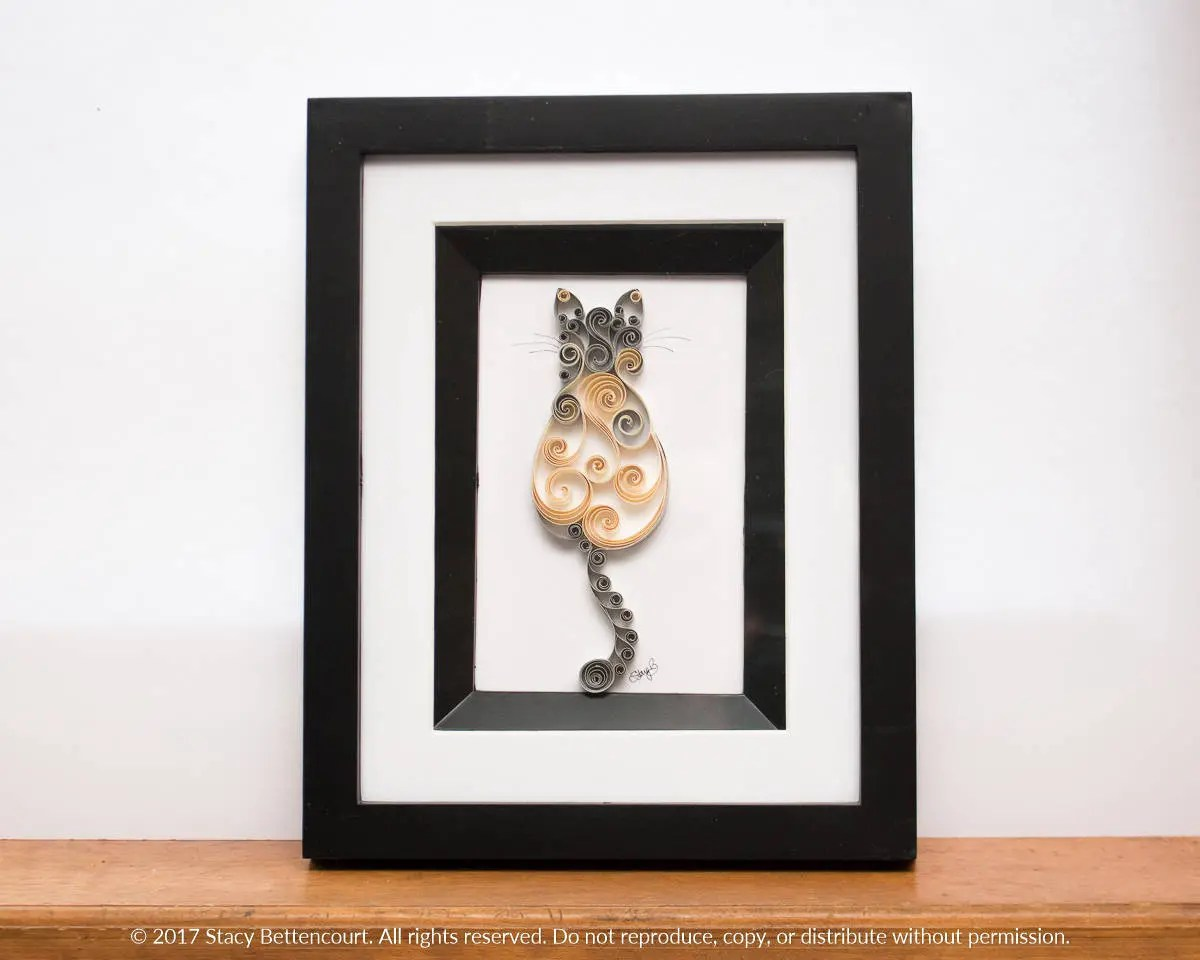 4x6 Framed Quilled Scroll...