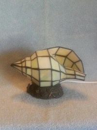 Stained Glass Lamp Beach Themed Lamp Shell Accent Lamp