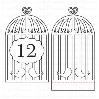 Wedding Table Numbers svg, Birdcage Table Numbers template ...