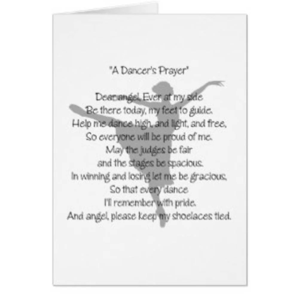 The Dancer's Prayer Digital Print Dancer's Poem