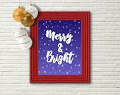 Merry and Bright, Printab...