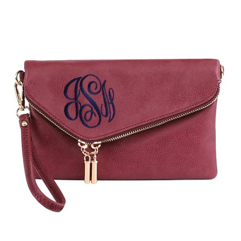 personalized monogrammed clutch purse