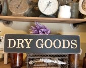 Dry Goods Wood Engraved S...