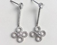 Diamond drop earring | Etsy
