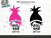 troll hair svg don't