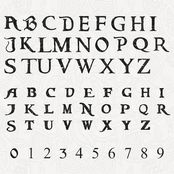 Pirates of the Caribbean alphabet svg, Svg alphabet, Svg