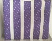 Hair Bow Purple/White Hea...