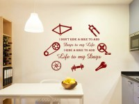 Cycling wall decal, cycling wall art, cycling gifts ...