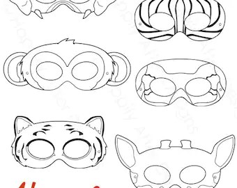 Paws Printable Coloring Masks dog masks printable masks