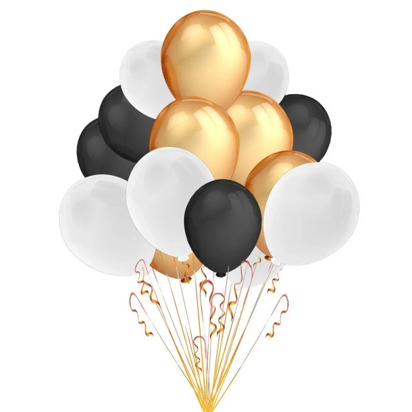 event balloons black white