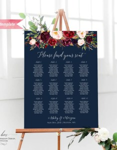 Il xn also printable burgundy floral navy blue silver wedding seating chart rh catchmyparty