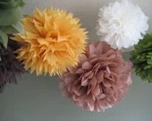 10 Tissue Paper Pom Poms Decoration Holiday Party NYE