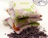 Organic Lavender Sachet - natural USA grown Organic Cotton - herbolution